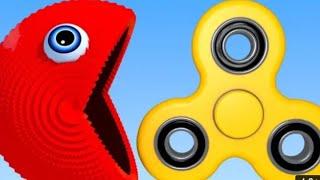 Learn Colour Pacman And 3D Soccer Ball Fidget Spinner For kid's