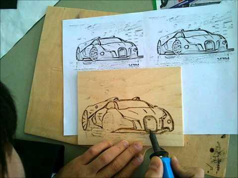 Рисунки на фанере