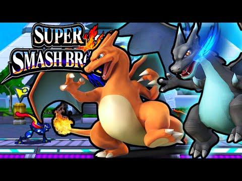 Super Smash Bros 4 3DS Mega Charizard X Final Character Unlock Gameplay Walkthrough Nintendo PART 19