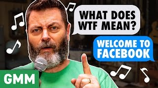 Nick Offerman Sings Dad Songs w/ Kiersey Clemons