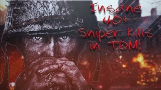 Must see 40+ sniper gameplay on TDM!! (Call of Duty WW2)