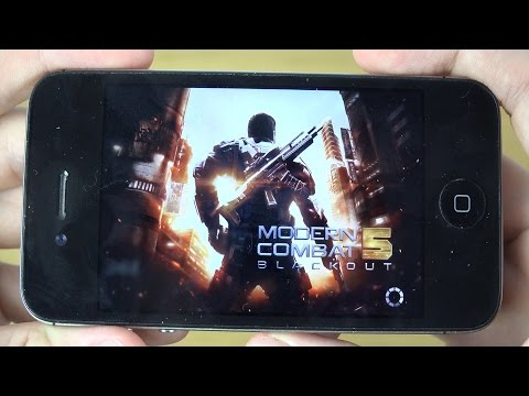 Modern Combat 5 iPhone 4S 4K Gaming Review