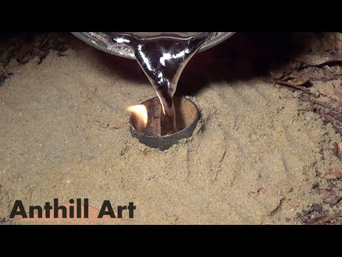 Casting an Aphaenogaster treatae Ant Colony with Molten Aluminum (Cast #066)