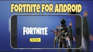 FORTNITE PARA ANDROID! - Sale hoy?