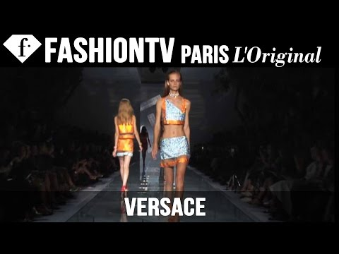 Versace Spring summer 2015 Ft Isabeli Fontana | Milan Fashion Week Mfw | Fashiontv video