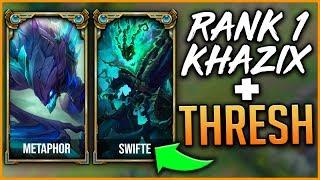 Rank 1 Kha'Zix NA + Rank 1 Thresh NA | Perfect Challenger Game - League of Legends