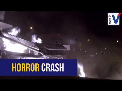 WATCH: Horrific Gauteng crash after golf skips red light