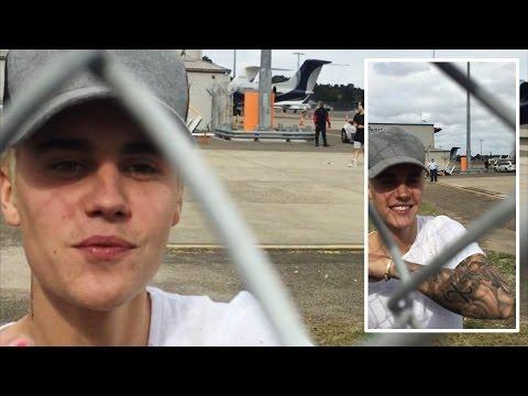 Justin Bieber at Sydney Airport in Sydney, Australia