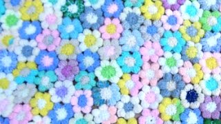 How To Crochet Puff Stitch Flowers #15