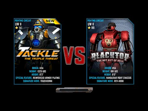 Real Steel WRB Championship Tackle VS BlackTop NEW ROBOT UPDATE