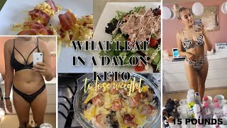 WHAT I EAT IN A DAY ON KETO TO LOSE WEIGHT   Sophie Faye