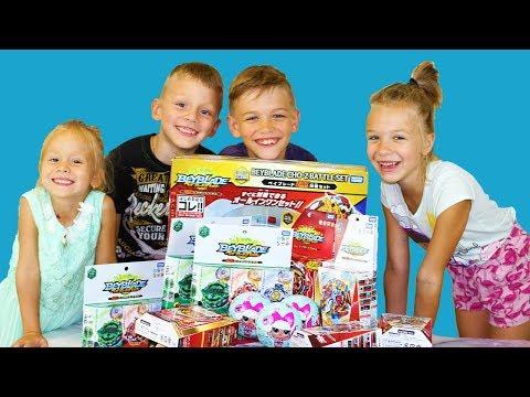 ОГРОМНАЯ ПОСЫЛКА ИГРУШЕК ИЗ ЯПОНИИ Мистери БОКС много игрушек ЛОЛ и Бейблэйд Бёрст