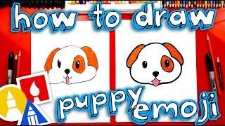 How To Draw The Puppy Emoji 🐶