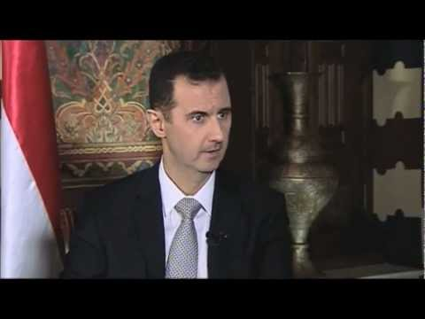 German television interviews the Syrian President, Bashar al-Assad