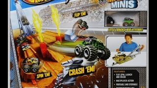 HOT WHEELS Monster JAM Mighty Minis Showdown Stadium Review Unboxing