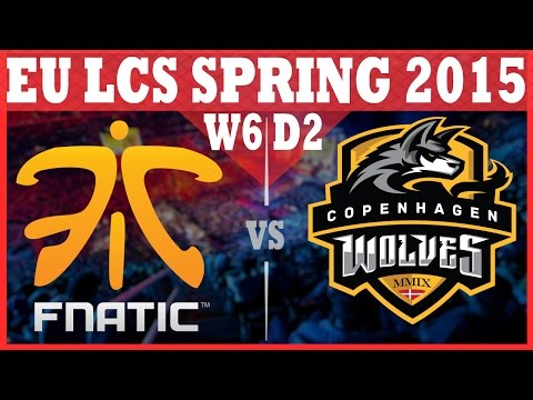 Fnatic VS Copenhagen Wolves  2015 EU LCS Spring Week 6 Day 2  FNC vs CW  HD 720p