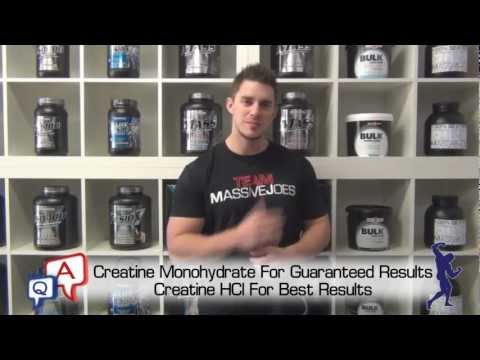 Creatine Part 2: What Is The Best Type of Creatine? MassiveJoes.com MJ Q&A Muscle Growth Best Review