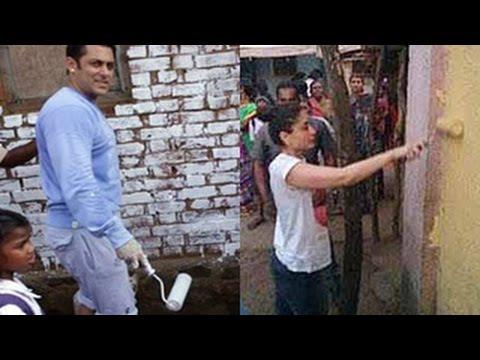 Salman Khan & Kareena Kapoor Khan on a PAINTING SPREE