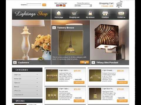 0 Lightings Store eCommerce template