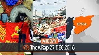 New People's Army, Typhoon Nina, Aleppo attacks | Midday wRap