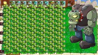 Plants vs Zombies Hack - Threepeater vs Dr. zomboss