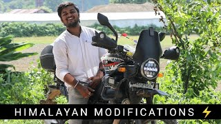 Modifications on my Royal Enfield Himalayan - ROCKY