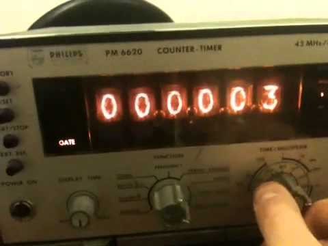Philips PM6620 freq. counter with Nixie tubes