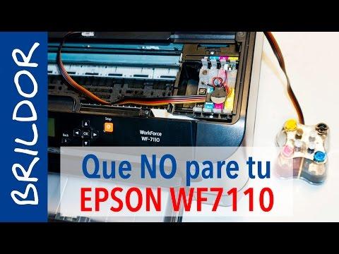 Sublimación CONTINUA con el CISS EPSON WF 7110