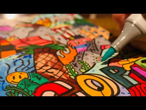I made a drawing using world's most EXPENSIVE alcohol-based markers... — EleFant