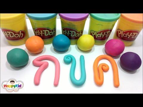 พยัญชนะไทย   แป้งโดว์ ก - ฮ    ฝึกอ่าน ก ไก่    Learn Thai Alphabet with Play Doh