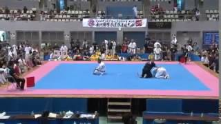 Kyokushin Karate double-tap kick KO