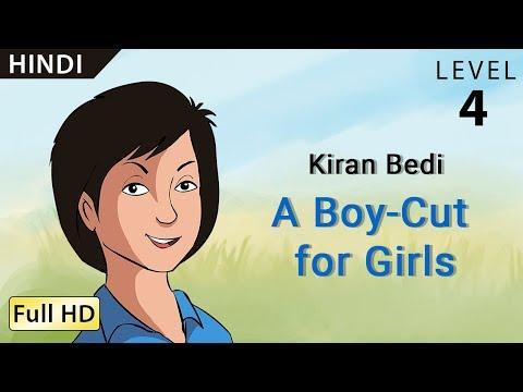 Kiran Bedi, A Boy-Cut for Girls: Learn Hindi - Story for Children