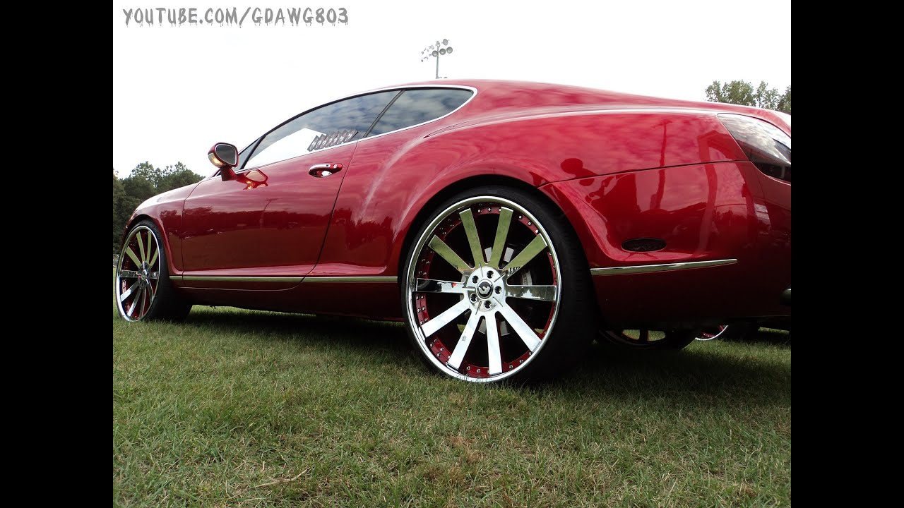 Candy Red Bently On 24 Forgiatos At Fall Fest 2013 Youtube