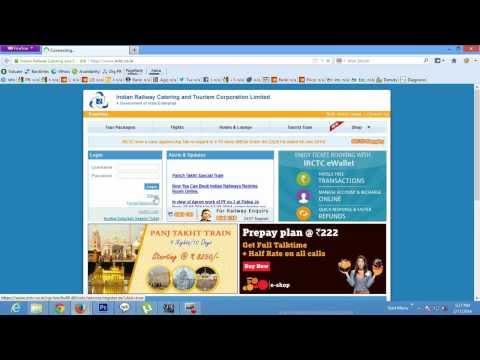 How to Create New Account on IRCTC website ?