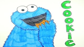 How to draw a cookie monster