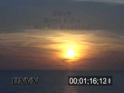 Time-lapse sunset over the Gulf Of Mexico