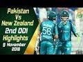 Pakistan Vs New Zealand 2nd ODI Highlights 9 November 2018 PCB mp3