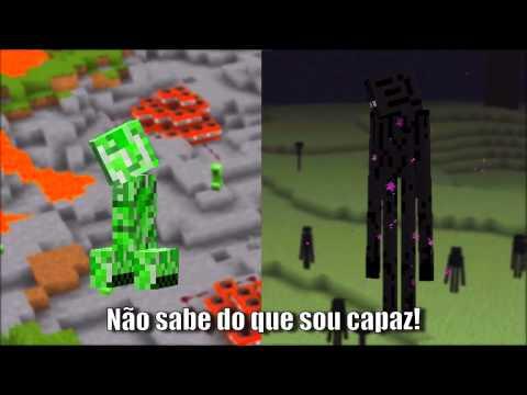 -batalha De Rap (creeper) Vs (enderman) Minecraft 2014