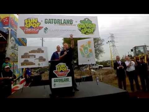 Fun Spot America and Gatorland break ground on Gator Spot