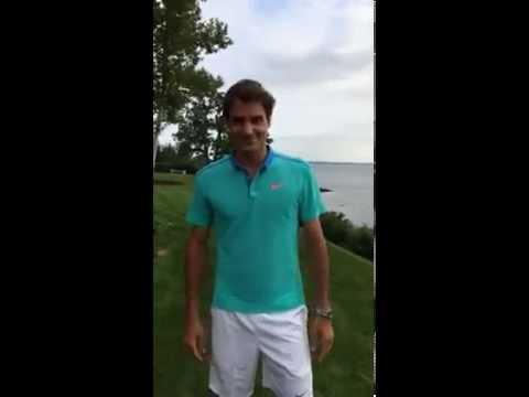 Roger Federer ALS Ice Bucket Challenge