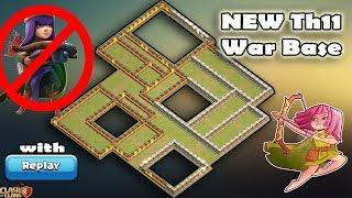 Unbeatable New Th11 War Base 2018 Replay | Anti 2 Star/Anti 3 Star/Anti Queen Walk PeBoWi/Anti hogs