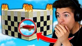 WORLDS BEST BED DEFENSE! (Minecraft BED WARS Trolling)