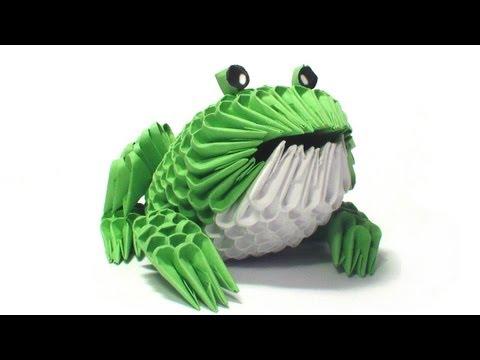 Модульная оригами лягушка