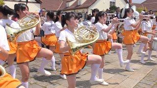 4k 京都橘高等学校 吹奏楽部 Sing Sing Sing ブルーメンパレード2016 kyoto Tachibana Shs Band