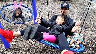 Outdoor Playground For Kids! Family Park Fun with Baby Doll and Swing | Imani's Family Fun World