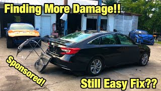 Rebuilding My Totaled Wrecked 2018 Accord From Copart Salvage Auction Assessing The Damage
