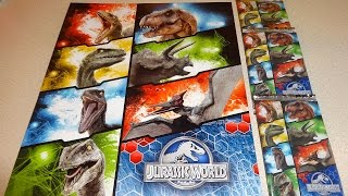 2015 Jurassic World Movie Cards Starter Set 10 Booster Pack + Limited Edition & Metal TCG