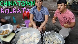 WONTON NOODLES! Indian Chinese Street Food in CHINATOWN Kolkata India