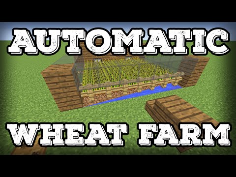 Minecraft Building Tutorial - Automatic Wheat Farm - Automatic Replanting!(Minecraft 1.8+)