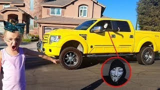 Game Master Caught on Camera Stealing My Dad's Yellow Tonka Truck!